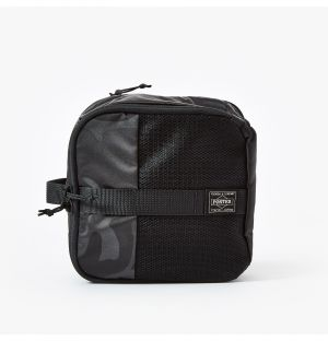 Small Porter Pouch in Black Camo