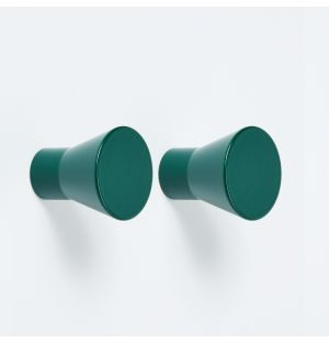 Exclusive Meteor Knob in Moss Green Set of 2