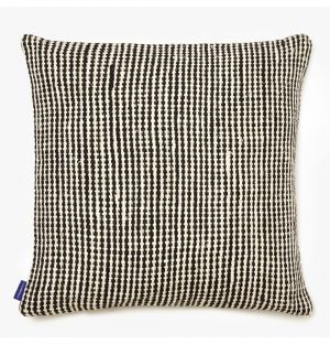 Woven Check Cushion Cover in Black 50cm x 50cm