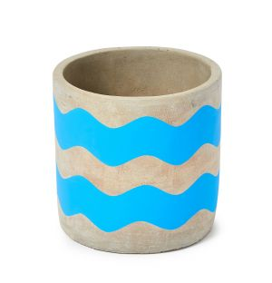 Exclusive Small Waves Pot in Blue