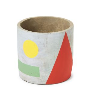 Exclusive Small Abstract Pot