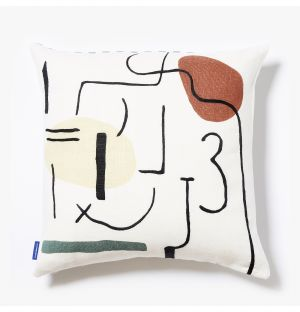 Multiface Cushion Cover in White & Multi 45cm x 45cm