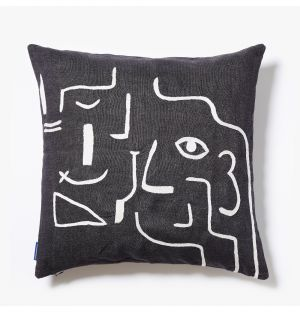 Multiface Cushion Cover in Black & White 45cm x 45cm