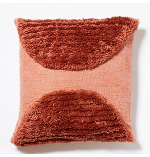 Katachi Shapes Semi Circle Cushion Cover in Red 50cm x 50cm