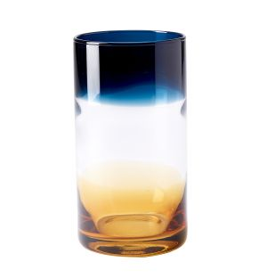 Ombre High Ball in Amber & Blue