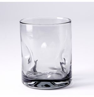 Dimpled Glass in Smoke