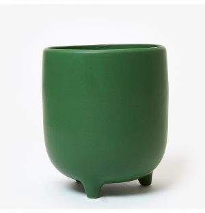 Piede Planter in Speckled Green