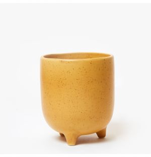 Piede Planter in Speckled Yellow