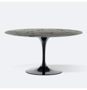 Exclusive Tulip Round Dining Table in Sequoia Brown