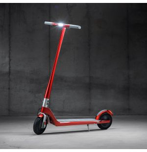 The Model One Scooter in Scarlet Fire