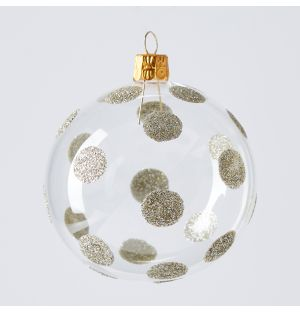 Glitter Spot Christmas Tree Decoration in Gold