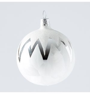 Winter Zig Zag Christmas Tree Decoration in Silver