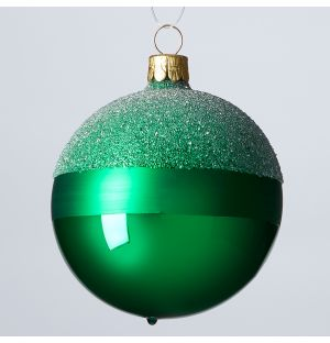 Winter Stripes Christmas Tree Decoration in Green