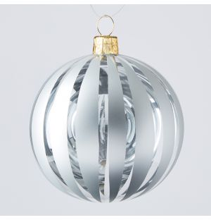 Cut Out Stripe Christmas Tree Decoration in White