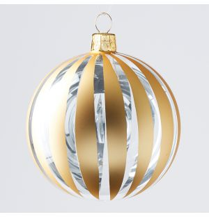 Cut Out Stripe Christmas Tree Decoration in Gold