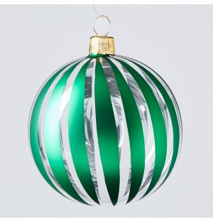 Cut Out Stripe Christmas Tree Decoration in Green