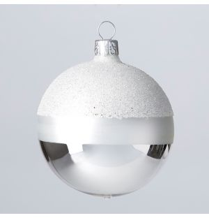 Winter Stripes Christmas Tree Decoration in Silver