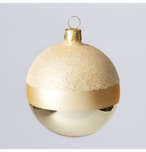 Winter Stripes Christmas Tree Decoration in Gold