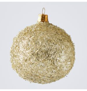 Texture Christmas Tree Decoration in Gold