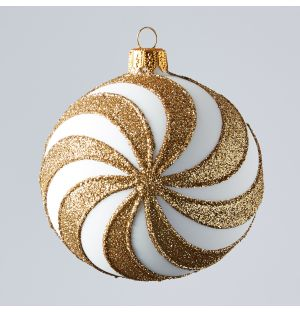 Spin Christmas Tree Decoration in Gold