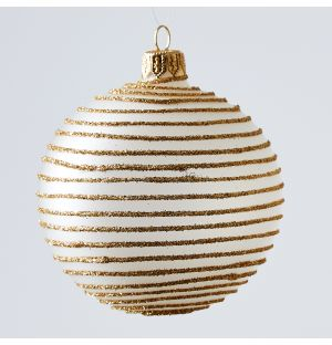 Ribbed Christmas Tree Decoration in Gold