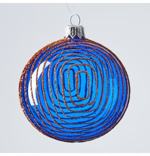 Maze Christmas Tree Decoration in Blue