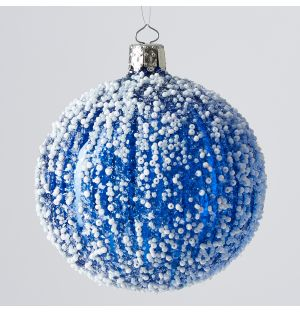 Snow Christmas Tree Decoration in Blue