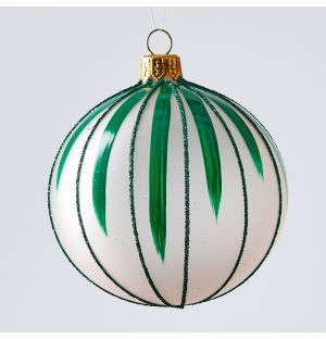 Circus Christmas Tree Decoration in Blue Stripe