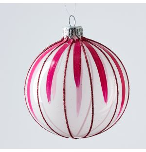 Circus Christmas Tree Decoration in Pink Stripe