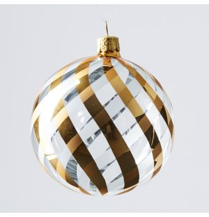 Garland Stripe Christmas Tree Decoration in Gold