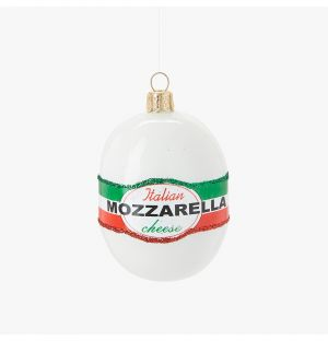 Mozzarella with Glitter Christmas Tree Decoration