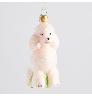 Pink Poodle Christmas Tree Decoration