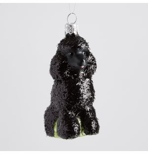 Black Poodle Christmas Tree Decoration