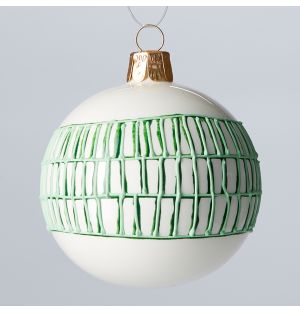 Grid Check Christmas Tree Decoration in Green