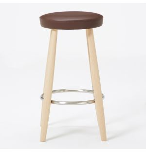 Ex-Display CH58 Stool in Soaped Oak and Leather