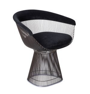 Platner Side Chair in Black Hyle & Metallic Bronze
