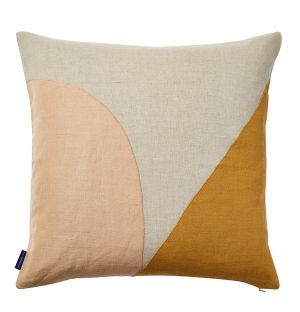 Geometric Stitched Cushion Cover in Apricot 45cm x 45cm