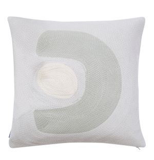 Abstract Stitched Cushion Cover in Tidal Foam 45cm x 45cm
