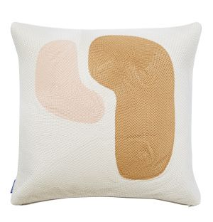 Abstract Stitched Cushion Cover in Birch 45cm x 45cm