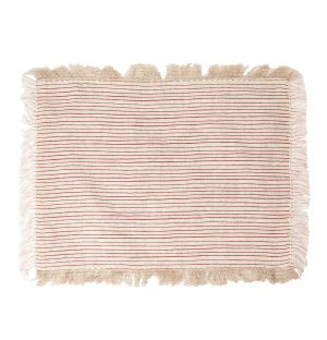 Linen Placemat in Red Stripes