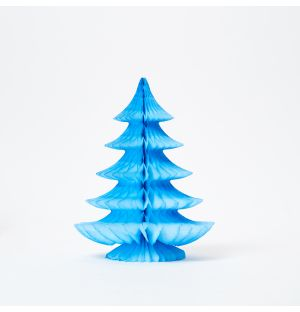 Curve Tree Decoration in Light Blue
