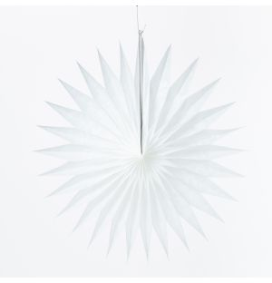 Pointed Fan in White