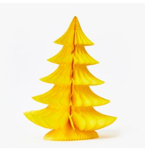 Large Curve Tree Decoration in Yellow