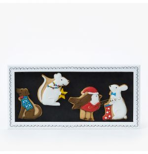 Exclusive Christmas Animal Biscuits Box of 4