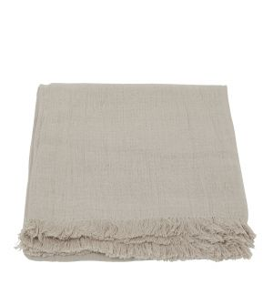 Double Weave Crinkle Throw in Natural 140cm x 220cm