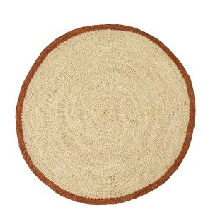 Oversized Round Placemat in Apricot Orange