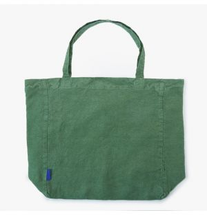 Oversized Linen Tote Bag in Moss