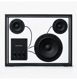 Large Transparent Speaker in Black