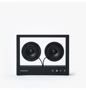 Small Transparent Speaker in Black