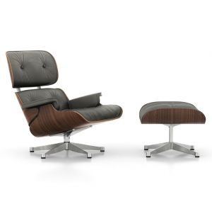 Eames Lounge Chair & Ottoman in Umbra Grey & Walnut